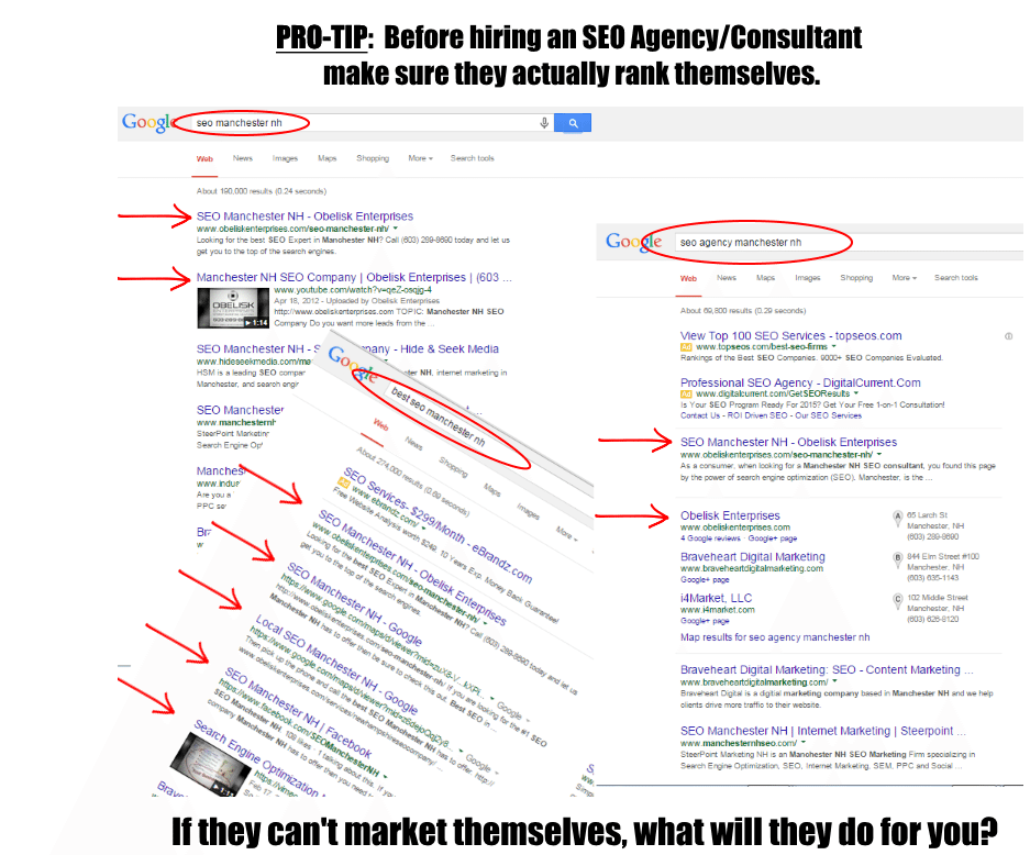 Proof of SEO Expertise Screenshot